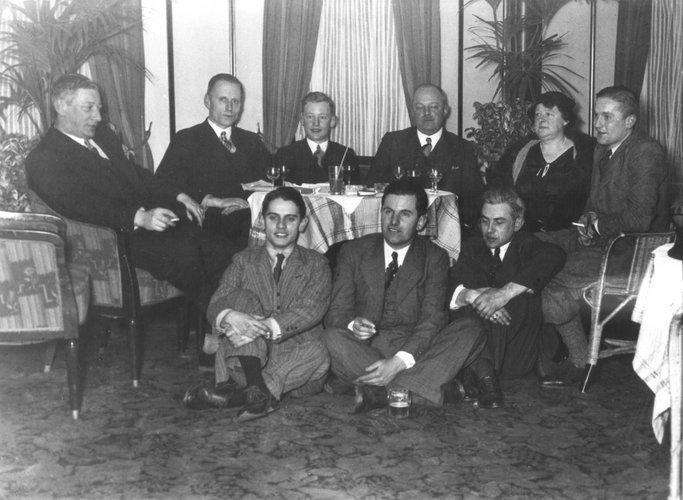 Afscheid Banting 1934