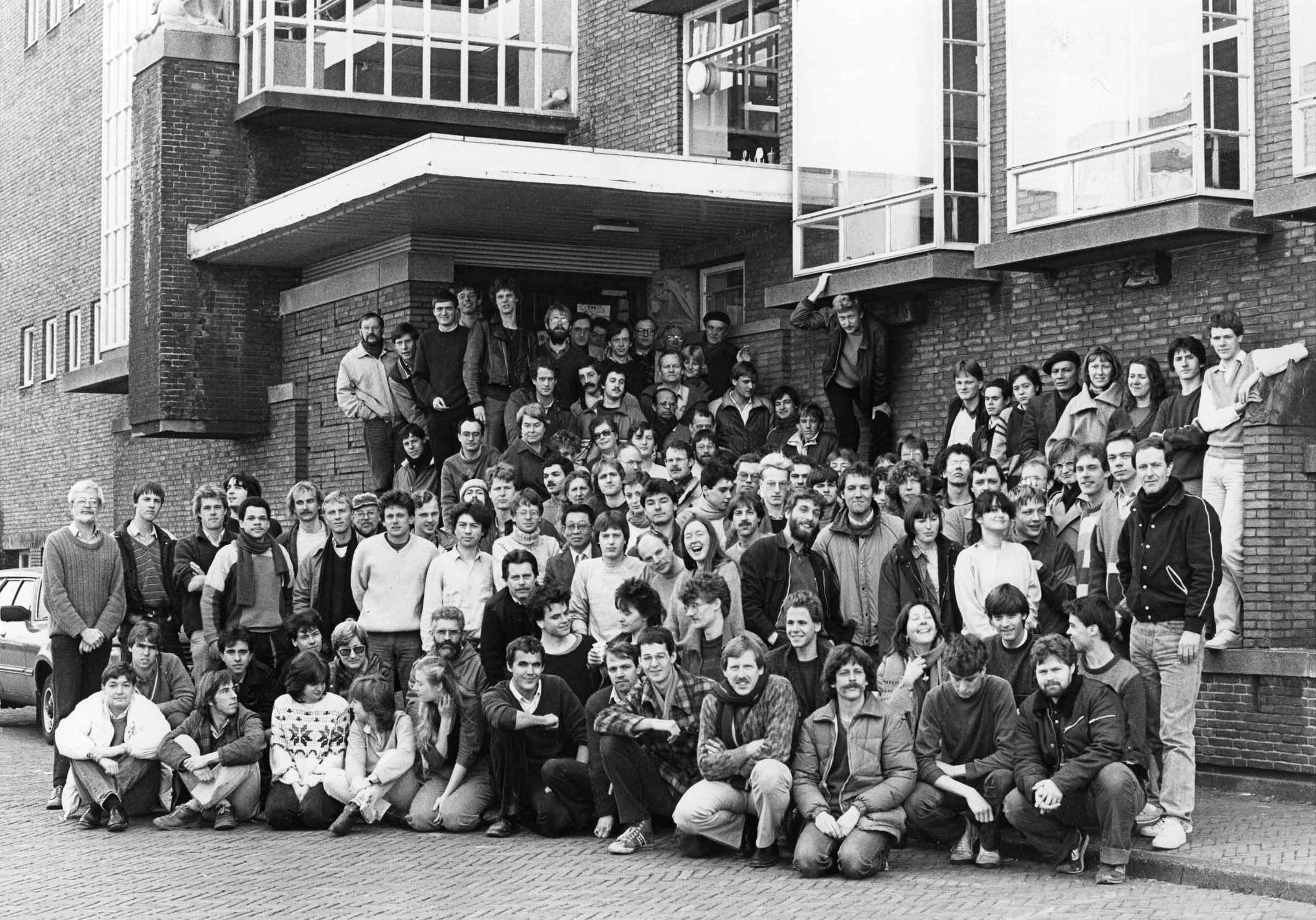 Groepsfoto Geologisch Instituut 1988